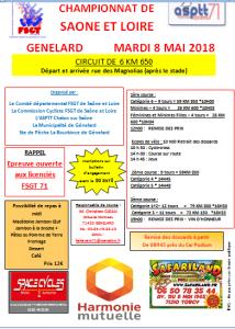 affiche chpt génelard 8 mai 2018